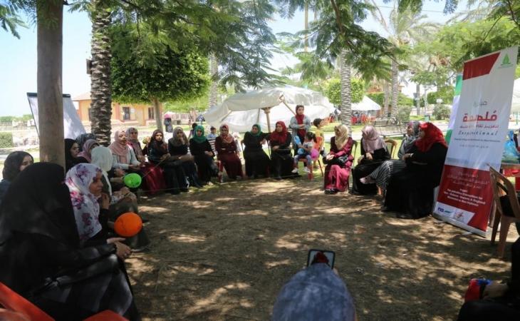 ضمن انشطة تعزيز ثقافة اللاعنف مجموعة غزة بالتعاون مع بال ثنك  تنفذ مبادرة  مُلهمة